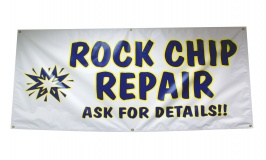 Rock Chip Windshield Repair Banner