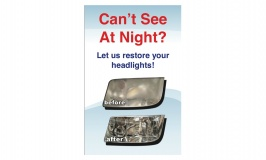 Headlight Restoration Point of Sale Display